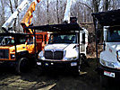 Versalift V0260RV, Over-Center Bucket Truck, mounted behind cab on, 2004 International 4300 Chipper Dump Truck