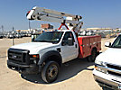 Versalift V032I, Bucket Truck mounted behind cab on 2009 Ford F550 Service Truck