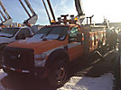 Versalift V040MHI, Material Handling Bucket Truck center mounted on 2008 Ford F550 4x4 Service Truck