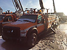 Versalift V040MHI, Material Handling Bucket Truck center mounted on 2008 Ford F550 4x4 Service Truck