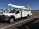 Versalift V040MHI, Over-Center Material Handling Bucket Truck, mounted behind cab on, 2006 Ford F550 4x4 Service Truck