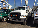 Versalift V043I, Over-Center Bucket Truck mounted behind cab on 2008 Ford F750 Utility Truck