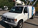 Versalift VANTEL29, Telescopic Non-Insulated Bucket Van, mounted behind cab on, 2000 Ford E350 Cargo Van