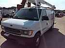 Versalift VANTEL29, Telescopic Non-Insulated Bucket Van, mounted behind cab on, 2001 Ford E350 Cargo Van