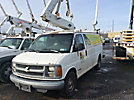 Versalift VANTEL29, Telescopic Non-Insulated Bucket Van mounted behind cab on 1998 Chevrolet C3500 Cargo Van