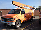 Versalift VANTEL29N, Telescopic Non-Insulated Bucket Van, mounted behind cab on, 2001 Ford E350 Cargo Van