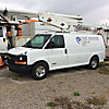Versalift VANTEL29N, Telescopic Non-Insulated Bucket Van, mounted behind cab on, 2003 Chevrolet C3500 Cargo Van