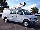 Versalift VANTEL29N, Telescopic Non-Insulated Bucket Van mounted behind cab on 2000 Ford E350 Cargo Van