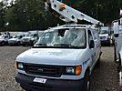 Versalift VANTEL29N, Telescopic Non-Insulated Bucket Van mounted behind cab on 2004 Ford E350 Cargo Van