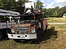 Versalift VN50PI, Over-Center Bucket Truck, mounted behind cab on, 1987 International 1954 Utility Truck