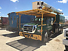 Versalift VO255RV, Over-Center Bucket Truck mounted behind cab on 2005 Ford F750 Chipper Dump Truck