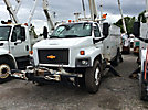 Versalift VO350, Over-Center Material Handling Bucket Truck, rear mounted on, 2004 Chevrolet C8500 Utility Truck