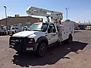 Versalift VO36I, Over-Center Bucket Truck, center mounted on, 2006 Ford F550 4x4 Service Truck