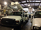 Versalift VO40MHI01, Material Handling Bucket Truck, center mounted on, 2008 Ford F550 4x4 Service Truck