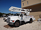 Versalift VO42MHI, Material Handling Bucket Truck, rear mounted on, 1996 Ford F800 Utility Truck