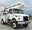 Versalift VO42MHI, Material Handling Bucket Truck rear mounted on 2002 Freightliner FL70 4x4 Utility Truck