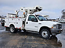 Versalift VST236I, Articulating & Telescopic Bucket mounted behind cab on 2002 Ford 550 Service Truck