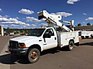 Versalift VST236I, Articulating & Telescopic Material Handling Bucket Truck mounted behind cab on 2000 Ford F550 4x4 Service Truck