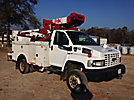 Versalift VST240101MH, Articulating & Telescopic Material Handling Bucket Truck, mounted behind cab on, 2006 Chevrolet C5500 4x4 Service Truck