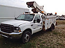 Versalift VST240I, Articulating & Telescopic Bucket Truck mounted behind cab on 2002 Ford F550 Service Truck