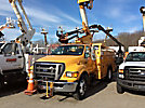 Versalift VST240I01, Articulating & Telescopic Bucket Truck, mounted behind cab on, 2005 Ford F750 Utility Truck