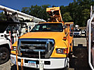 Versalift VST240I01, Articulating & Telescopic Bucket Truck mounted behind cab on 2006 Ford F750 Utility Truck