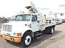 Versalift VST3600I, Articulating & Telescopic Bucket Truck mounted behind cab on 1995 International 4700 Flatbed/Utility Truck