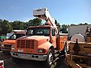 Versalift VST5000I, Articulating & Telescopic Bucket Truck, center mounted on, 2000 International 4900 Utility Truck