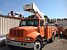 Versalift VST5000I, Articulating & Telescopic Bucket Truck, center mounted on, 2001 International 4900 Utility Truck