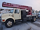 Willkie 540, Non-Insulated Ladder Lift center mounted on 2001 International 4700 Flatbed/Utility Truck