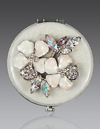 Kathleen Floral Cluster Compact - Crystal Pearl