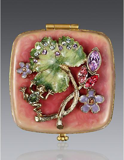 Christine Frog & Bud Compact - Rose Celadon