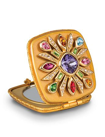 Schuyler Maltese Bejeweled Compact - Jewel