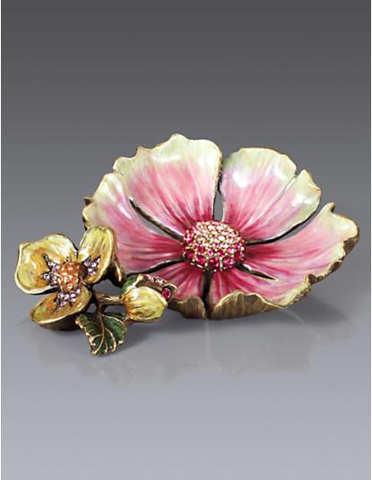 Maya Anemone Trinket Tray - Rose Celadon