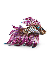 Namoko Fighting Fish Figurine - Jewel