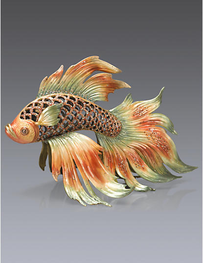 Namoko Fighting Fish Figurine - Natural
