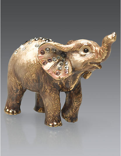 Ruby Elephant Mini Figurine - Grey