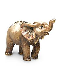 Ruby Elephant Mini Figurine - Grey