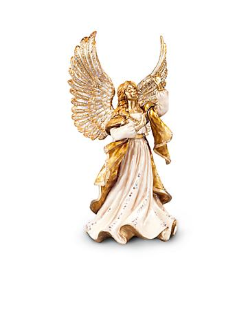 Rejoicing Angel Figurine - Golden