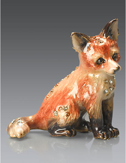 Damien Fox Mini Figurine - Natural
