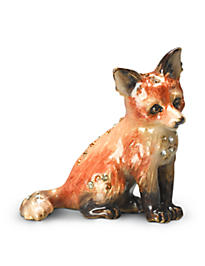 Damien Fox Mini Figurine - Natural