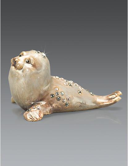 Ronan Baby Seal Mini Figurine - Natural