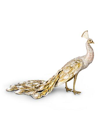 Theseus Grand Peacock Figurine - Golden