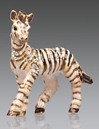 Meghan Zebra Mini Figurine - Natural