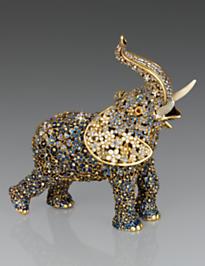 Sadie Boxwood Elephant Figurine - Delft Garden