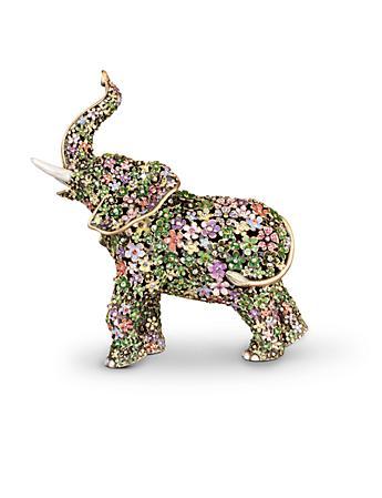 Sadie Boxwood Elephant Figurine - Flora
