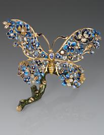 Annabel Floral Butterfly Figurine - Delft Garden