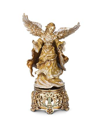 Musical Angel Figurine - Golden