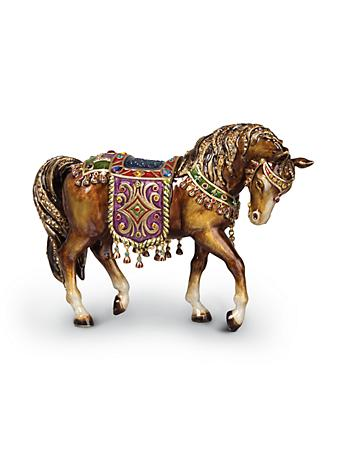 Tapestry Horse Figurine - Jewel