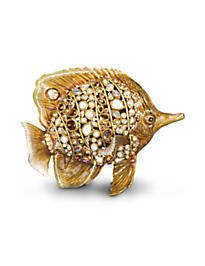 Weston Butterfly Fish Figurine - Golden
